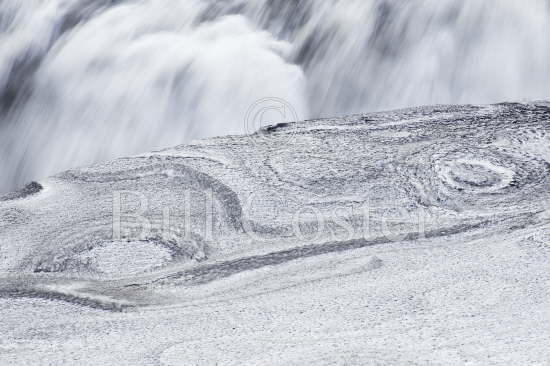 Dettifoss - with ice patterns